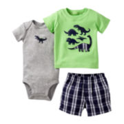Carter's Dinosaur 3-pc. Short Set - Boys newborn-24m