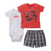Carter's Submarine 3-pc. Short Set - Boys newborn-24m