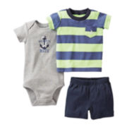 Carter's Anchor 3-pc. Short Set - Boys newborn-24m