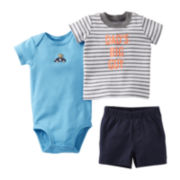 Carter's Monkey 3-pc. Short Set - Boys newborn-24m