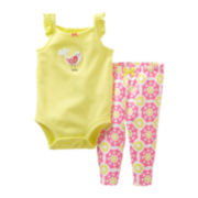 Carter's Bird Bodysuit Pant Set - Girls newborn-24m
