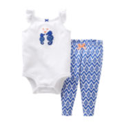 Carter's Seahorse Bodysuit Pant Set - Girls newborn-24m