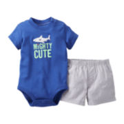 Carter's Shark Bodysuit Short Set - Boys newborn-24m