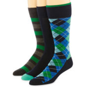 Stafford® 3-pk.  Cotton Rich Crew Socks