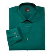 JF J. Ferrar® Slim-Fit Solid Dress Shirt—Big &Tall