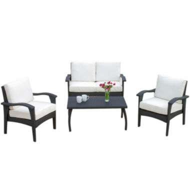 jcpenney.com | Honolulu 4-pc. Wicker Outdoor Sofa Set