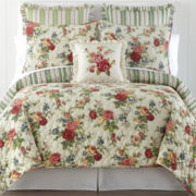 Home Expressions Lizbeth Floral Quilt & Accessories
