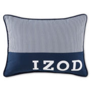 IZOD® Navy Pinstripe Oblong Decorative Pillow