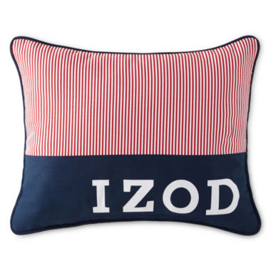 jcpenney.com | IZOD® Red Pinstripe Oblong Decorative Pillow