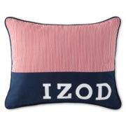 IZOD® Red Pinstripe Oblong Decorative Pillow