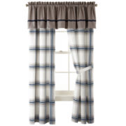 IZOD® Oxford Plaid Curtain Panel Pair