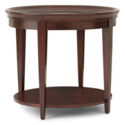 "Omni Glass Top 24"" Round End Table"