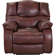 Hillside Faux-Leather Heat and Massage Recliner