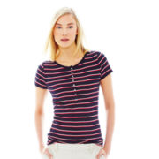 Joe Fresh™ Short-Sleeve Striped Henley