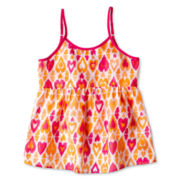 Arizona Split Back Woven Tank Top - Girls 6-16 & Plus