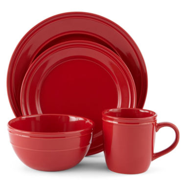 jcpenney.com | JCPenney Home™ Stoneware 4-pc. Place Setting