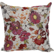Jacquard Floral Decorative Pillow