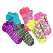 Xersion™ 6-pk. Patterned No-Show Socks - Girls