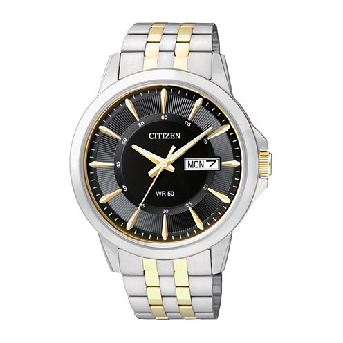 Citizen® Everyday Mens Two-Tone Stainless Steel Watch BF2018-52E