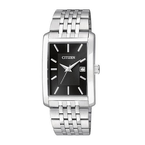 Citizen® Everyday Mens Rectangular Stainless Steel Watch BH1671-55E