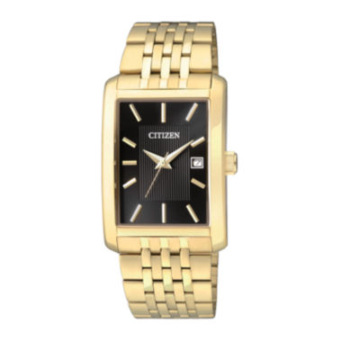 jcpenney.com | Citizen® Everyday Mens Rectangular Gold-Tone Stainless Steel Watch BH1673-50E-56