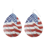 Arizona Patriotic Flag Teardrop Earrings