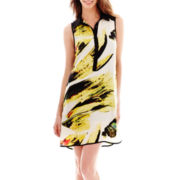 Kelly Renee Sleeveless Printed Shirtdress