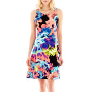 Worthington® Print Fit-and-Flare Dress