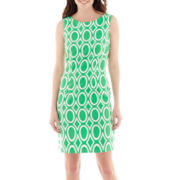 Alyx® Sleeveless Geo Circle Diamond Print Sheath Dress