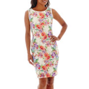 RN Studio by Ronni Nicole Sleeveless Floral Print Lace Dress