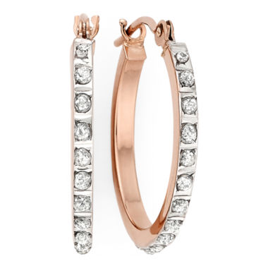 jcpenney.com | Diamond Fascination™ 14K Rose Gold Round Hoop Earrings