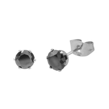 jcpenney.com | Black Cubic Zirconia 5mm Stainless Steel Stud Earrings