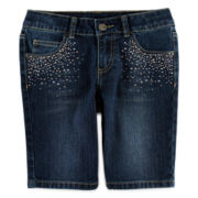 Total Girl® Embellished Bermuda Shorts - Girls 7-16 and Plus