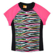 Angel Beach Zebra Rash Guard - Girls 7-16