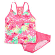 Tiki Beach 2-pc. Crochet Tankini – Girls 7-16