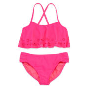 Angel Beach 2-pc. Flounce Swimsuit – Girls 7-16