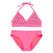 Tiki Beach 2-pc. Chevron Swimsuit - Girls 7-16