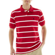 U.S. Polo Assn.® Short-Sleeve Striped Piqué Polo