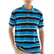 U.S. Polo Assn.® Short-Sleeve Multi-Striped Piqué Polo
