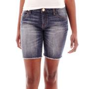 Sapphire Ink Denim Bermuda Shorts