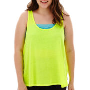 City Streets® Double-Scoopneck Bar-Back Tank Top - Plus
