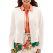 Worthington® Front-Zip Peplum Jacket