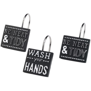 jcpenney.com | Avanti Chalk It Up Shower Curtain Hooks
