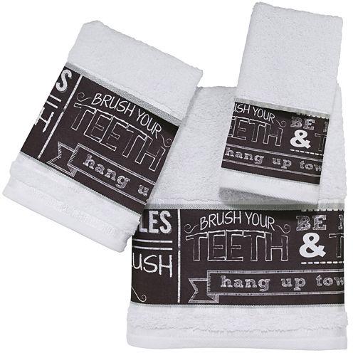 Avanti Chalk It Up Bath Towels