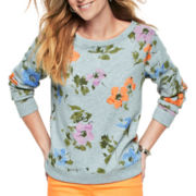 St. John's Bay® Print Sweatshirt - Tall
