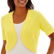 R&K Originals® Short-Sleeve Sweater Shrug