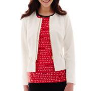 Worthington® Zip-Front Peplum Jacket - Tall