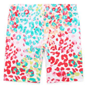 Okie Dokie® Print Bike Shorts - Toddler Girls 2t-5t