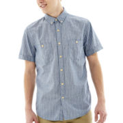 Arizona Short-Sleeve Striped Workwear Shirt