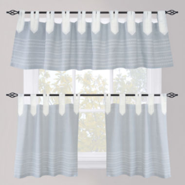 jcpenney.com | Park B. Smith Nordic Bands Tab-Top Kitchen Curtains